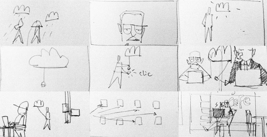 Linkoffice: story-board thumbnails