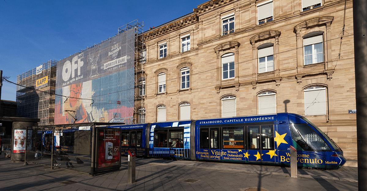Affiche du Noel Off par Julien Schleiffer - Place de la gare, Strasbourg