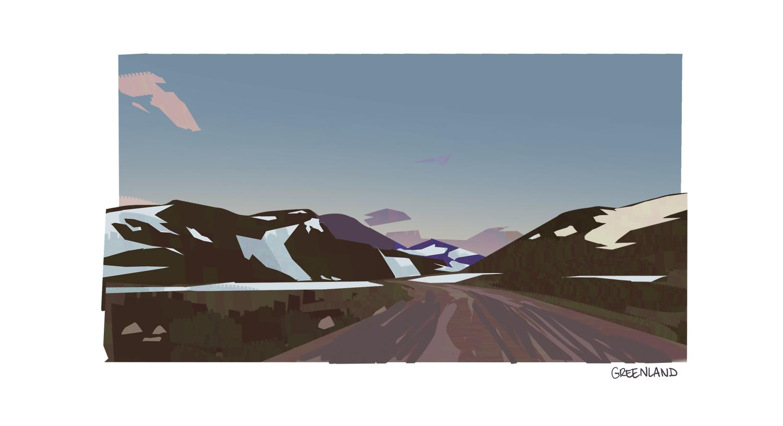 Virtual plein air - Greenland